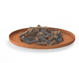 Corten Steel Firebowl  - 1.1m (3ft 9in)