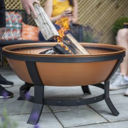 89cm Katori Copper Effect Steel Firepit by La Hacienda™