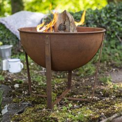 46cm Small Tamba Oxidised Steel Firepit by La Hacienda™
