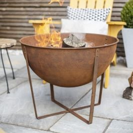 61cm Medium Tamba Oxidised Steel Firepit by La Hacienda™