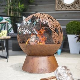 50cm Leaves Design Steel Fire Globe by La Hacienda™