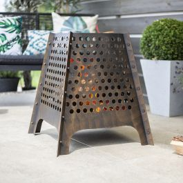 50cm Osiris Black Steel Firebasket by La Hacienda™