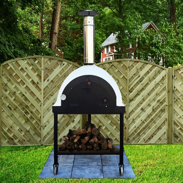 outdoor royal portable wood fired pizza oven