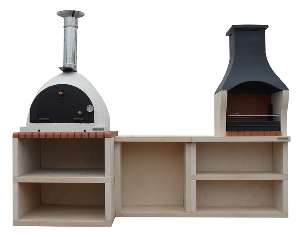 Napoli Outdoor Kitchen BBQ and Wood Burning Pizza Oven - 2.6m