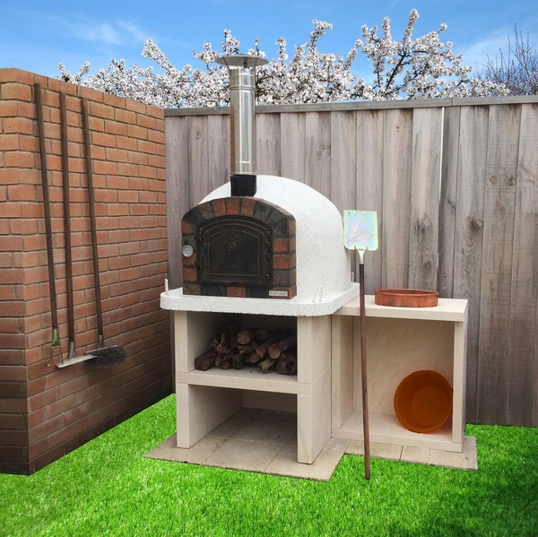 Outdoor Premier Wood Fired Pizza Oven With Stand And Side