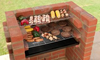 Black Knight Brick Barbeque Starter Kit & Warming Rack