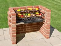 Black Knight Large Brick Barbeque with Warming Rack - 90 x 39cm