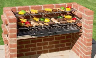 Black Knight 100% Stainless Steel Extra Large Brick BBQ Kit - 112 x 39cm
