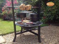 Buffalo - Large Fire Pit Rotisserie Bundle