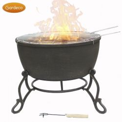 60cm Meredir Cast Iron Fire Pit by by Gardeco™