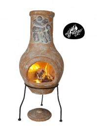 H75cm Ranchero Medium Clay Chimenea by El Fuego™