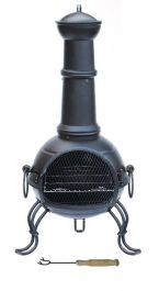 H45cm Madison Medium Steel Chimenea by Gardeco™