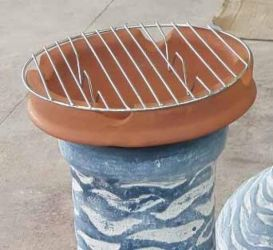 Clay Cooking Pot for Chimineas BBQ Grill by  Gardeco™