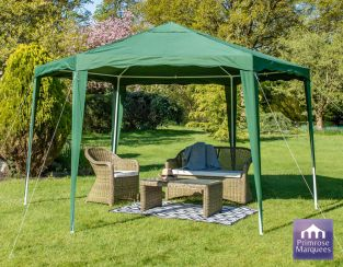 3.92m Budget Party Tent Green Gazebo