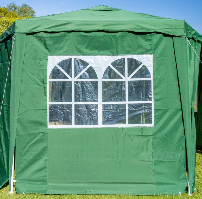 3.92m Side Walls for Budget Party Tent Green Gazebo