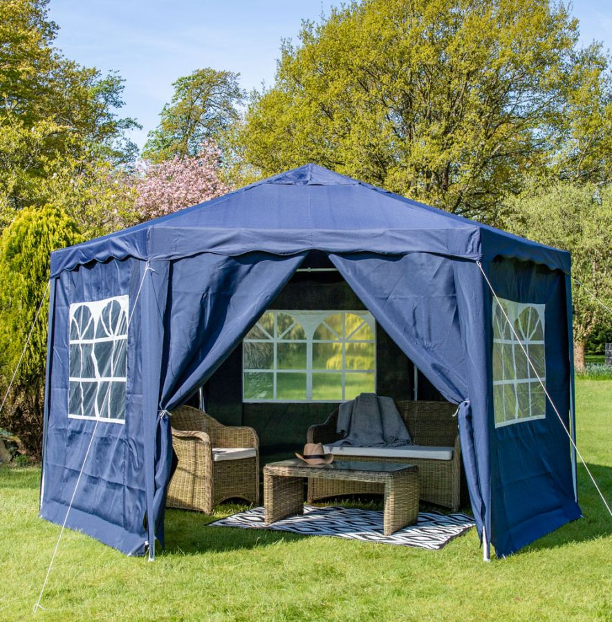 3.92m Side Walls for Budget Party Tent Blue Gazebo