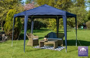 3.92m Budget Party Tent Blue Gazebo
