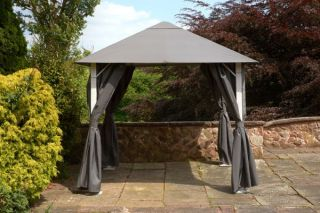 Vintage Full Steel Gazebo 2.5m x 2.5m - Grey