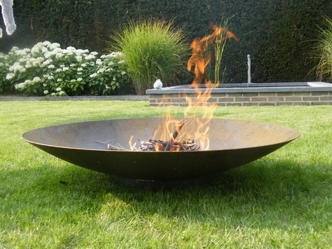 100cm Corten Steel Fire Pit and Water Bowl