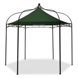 Harlington Deluxe Steel Frame Gazebo with Green Roof Canopy