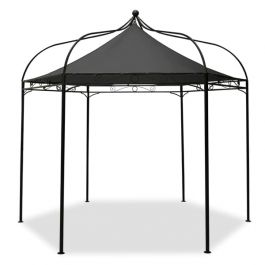 Harlington Deluxe Steel Frame Gazebo with Charcoal Roof Canopy