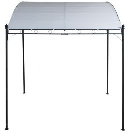 Wall Mounted Outdoor Dining Polyester Gazebo With Round Leg Tube - Large