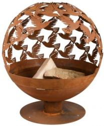 58.8 cm (1 ft 11 in) Dia Laser Cut Bird Design Fire Globe