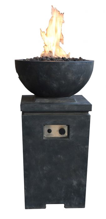 100cm Exeter Gas Fire Pit in Black