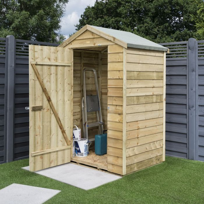 4ft x 3ft Overlap Timber Shed by Rowlinson