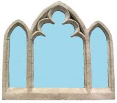 2ft 11in x 2ft 7in Triple Arch Overmantle Outdoor Glass Mirror