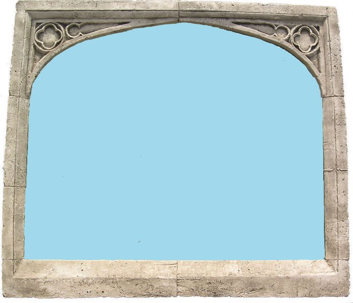 2ft 11in x 2ft 7in Single Arch Overmantle Outdoor Glass Mirror