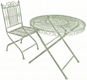 Outdoor Round Table, Green - 75cm