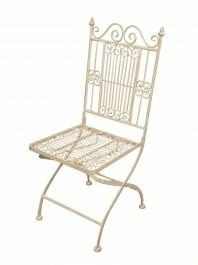 Outdoor Folding Chair, White - 94cm