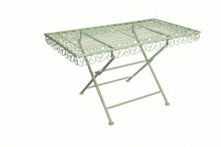 Outdoor Metal Coffee Table ,Green - 50cm