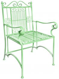 Outdoor Carver Chair ,Green - 57cm