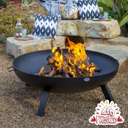 80cm Carbon Steel Fire Bowl in Black - by La Fiesta