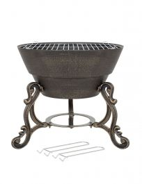 47cm Volta Cast Iron Firepit - by La Hacienda™