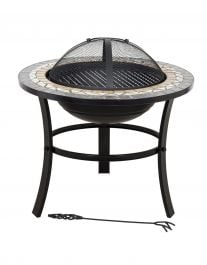 60cm Skyros Ceramic & Steel Firepit - by La Hacienda™