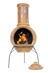 Large Plain Mexican Clay Chimenea - H110 x D44cm - by La Hacienda™