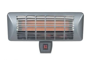 2kW Grey Wall Mounted Heater - H28 x W50 x D21cm - by La Hacienda™