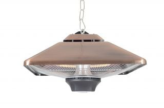 2kW IP24 Copper Square Hanging Heater - H27 x W43 x D50cm - by La Hacienda™