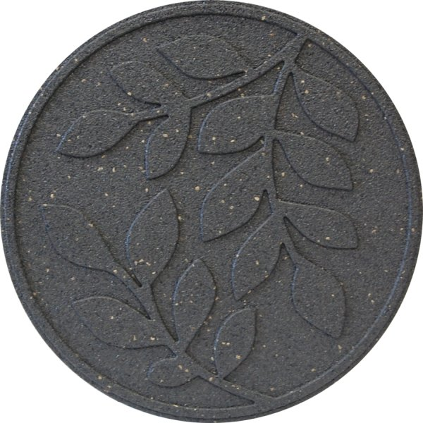 "18"" (46cm)  - Reversible EcoTrend Stepping Stone Leaves Design Grey - Pack of 3"