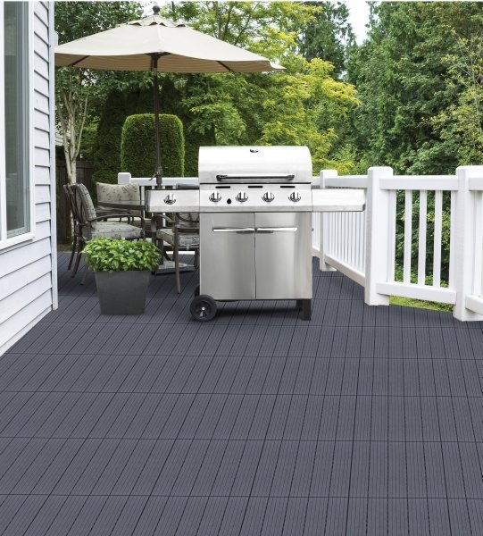 Cosmopolitan Deck Tile in Steel Grey