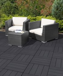Cosmopolitan Deck Tiles in Steel Grey - 6 Tiles