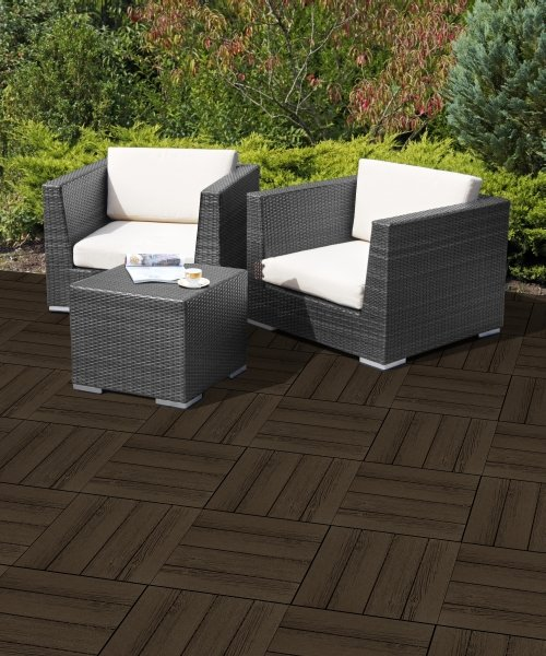 Barnboard Deck Tile in Earth