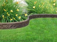Flexi Curve SCROLL Garden Border with installation spikes Earth