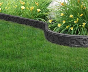 FlexiCurve Scroll Design Garden Edging (1x 1.2m) in Grey