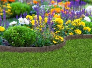 EZ Border Stone Garden Edging (3x 1.2m packs) in Earth