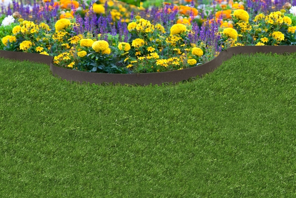 EZ Border Thinline Garden Edging - Earth