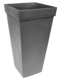 71cm Recycled Self-Watering Rubber Symphony Pewter Planter